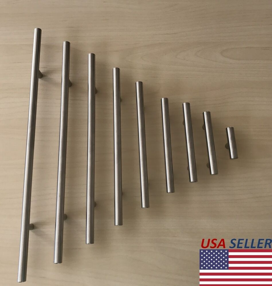 Stainless steel brushed nickel kitchen cabinet handle t for Stainless kitchen cabinet doors