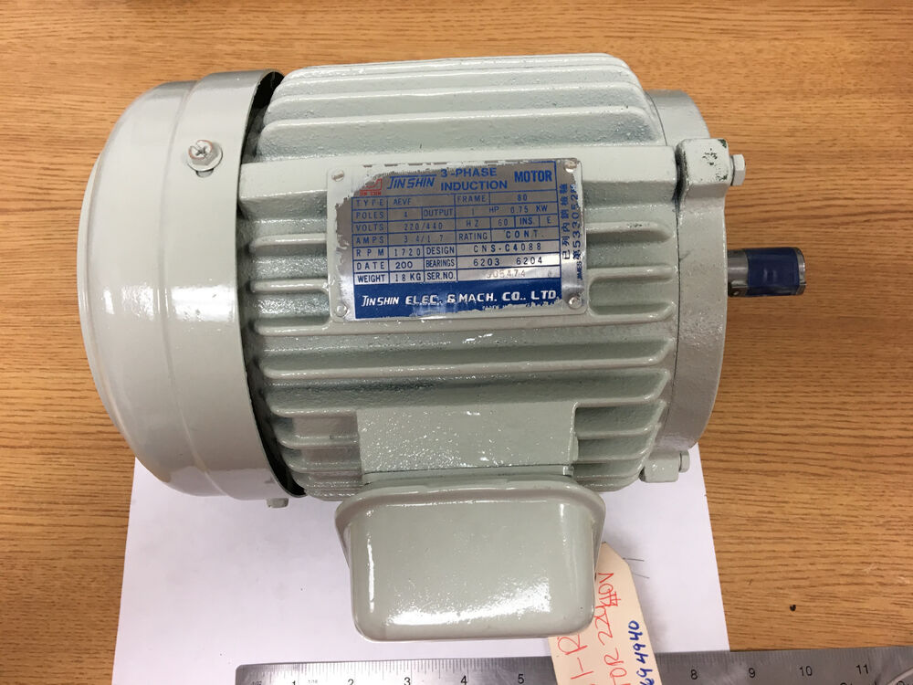 phase induction motor jin shin rl 1230 3 phase induction motor 1hp 220 440 volts 60
