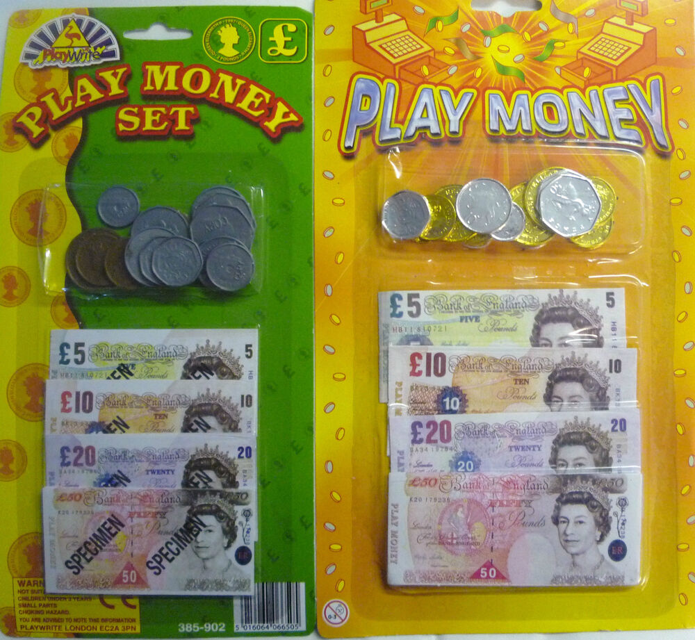 Play Money Toy : Toy play money sets notes and coins great educational