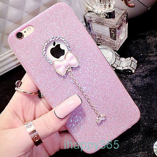 5S Real Rabbit Hair Case for iPhone SE 5 Bling Shiny