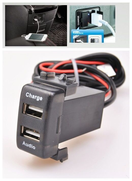 Dual Usb Charger Amp Audio Input Port Interface For Nissan