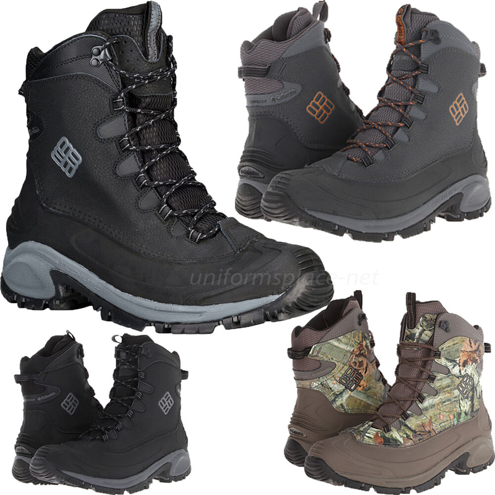 columbia boots bugaboot waterproof lace up snow boot