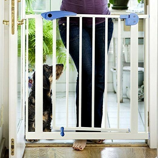 Heavy Duty Tall Walk Thru Safety Gate Baby Indoor Security