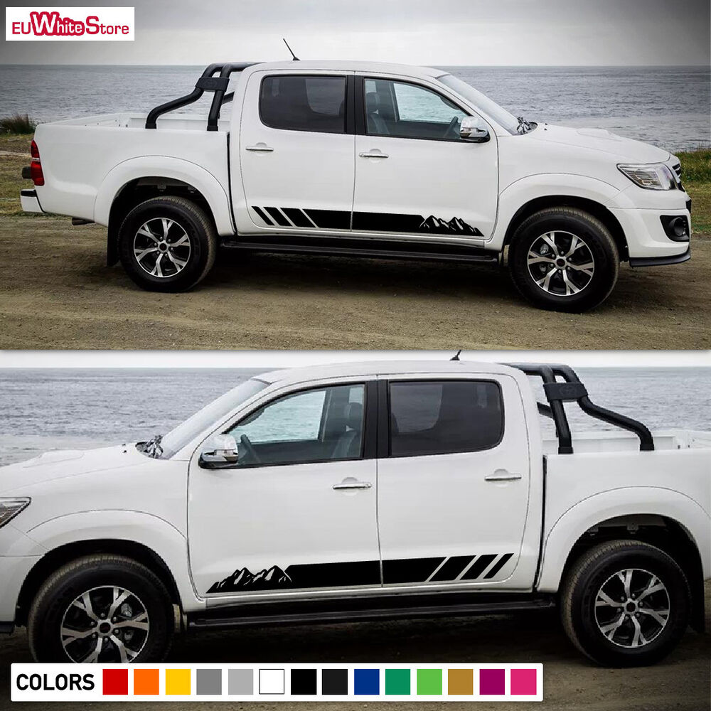 Decal Sticker Vinyl Side Stripes Body Kit For Toyota Hilux