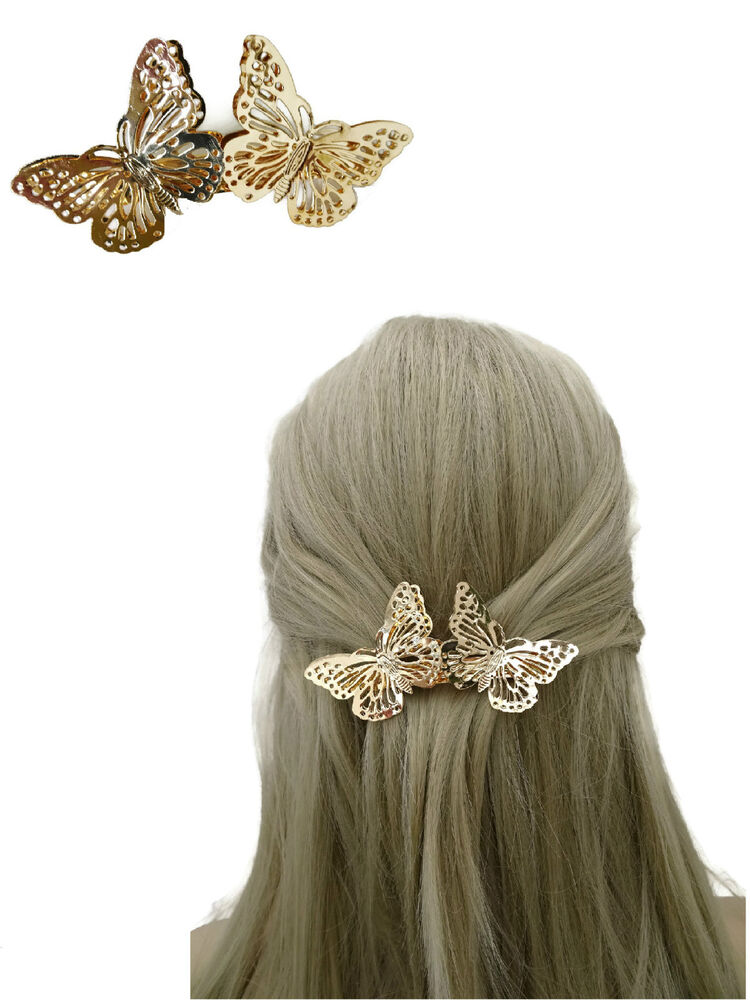 Pretty Butterfly Barrette Hair Clip Spring Clip Grip in ...