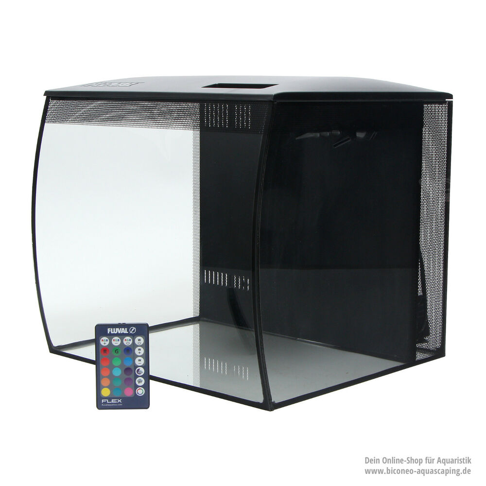 fluval flex nano aquarium set 34 liter mit steuerbarer led beleuchtung ebay. Black Bedroom Furniture Sets. Home Design Ideas