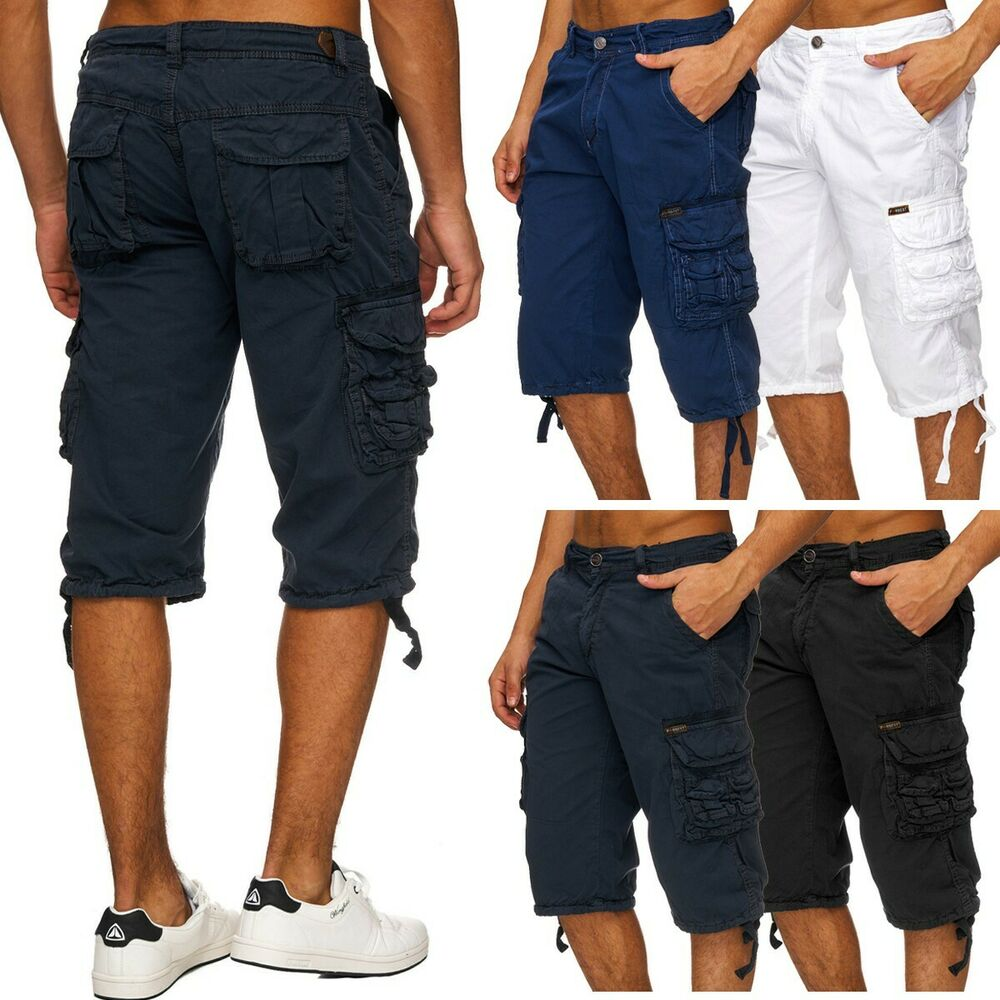 herren cargo shorts kurze hose bermuda chino sommer caprihose respector ebay. Black Bedroom Furniture Sets. Home Design Ideas