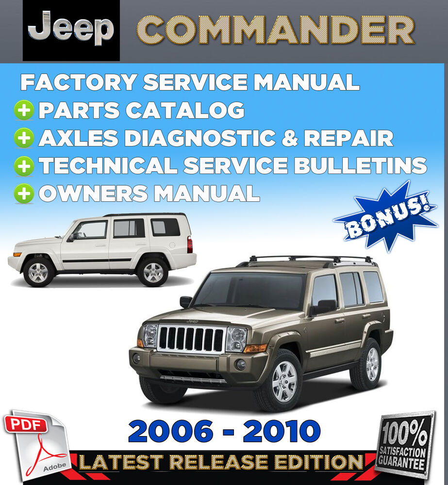 Jeep Commander Xk 2006 2010 Factory Oem Service Repair Workshop Shop Manual Ebay