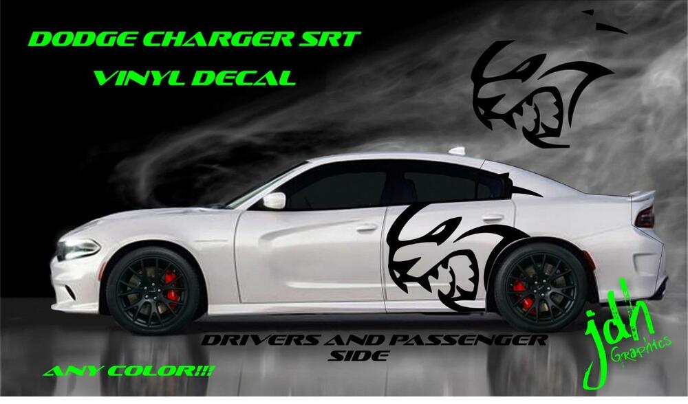 2013 Dodge Charger Hellcat For Sale >> 2015 2016 Dodge Charger Srt Vinyl Decal Sticker Graphic Wrap Hellcat Stripe | eBay