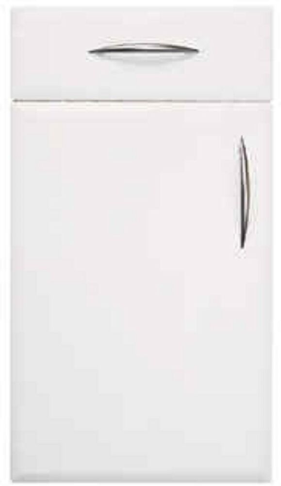 25 White Kitchen Cupboard Doors: Beveled Edge Satin Matt White Kitchen Cupboard Doors Fit