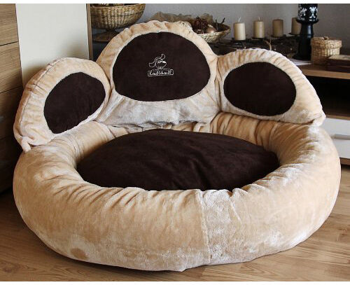 knuffelwuff katzenbett pfoten hundebett bett hunde kissen hundesofa katzensofa ebay. Black Bedroom Furniture Sets. Home Design Ideas