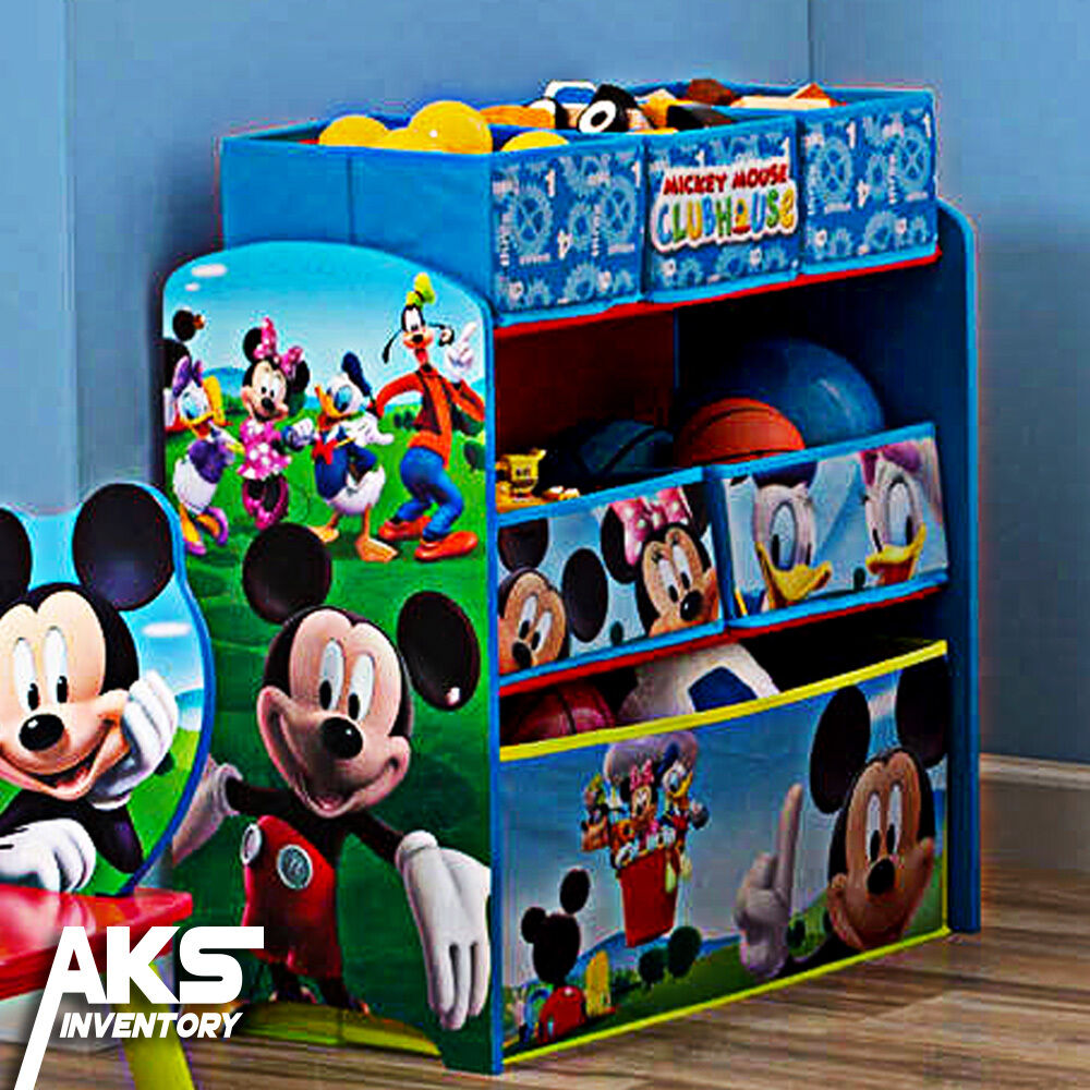 Paw Patrol Toy Organizer Bin Cubby Kids Child Storage Box: Mickey Mouse Kids Toy Organizer Bin Children's Storage Box