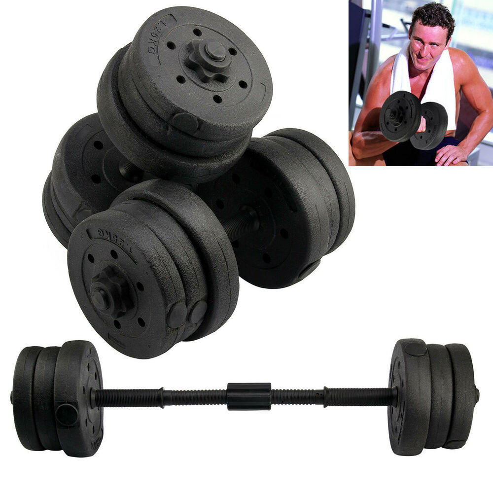 Exercise Barbell Dumbbell: 20KG DUMBBELLS SET GYM DUMBELLS WEIGHTS BICEPS WORKOUT