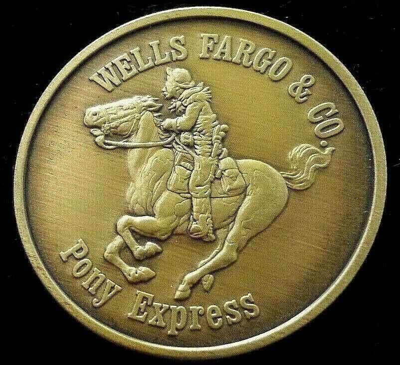 Wells Fargo Amp Co Pony Express Rider Collectable Antique