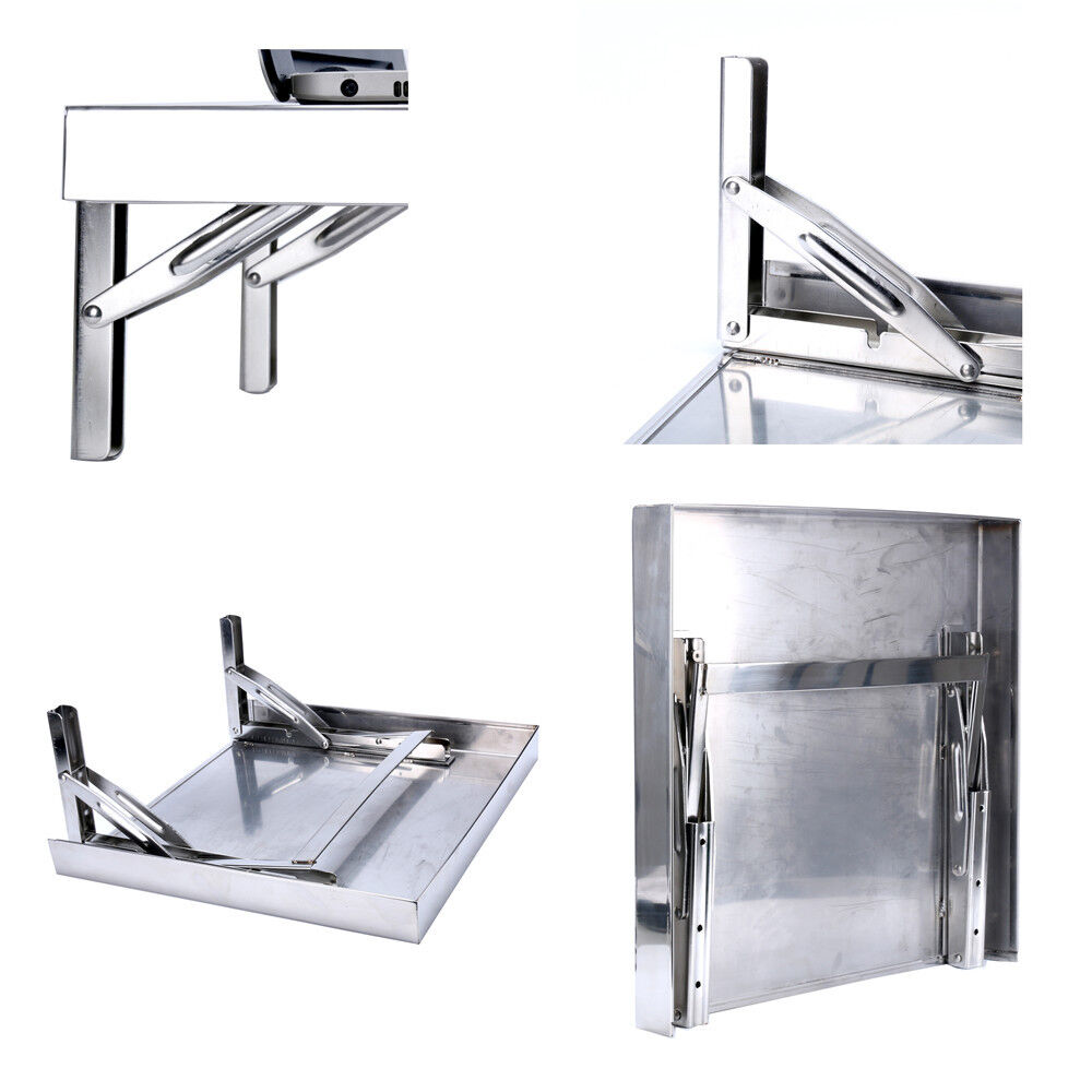 P Romotion Workstation Stainless Wall Mount Folding