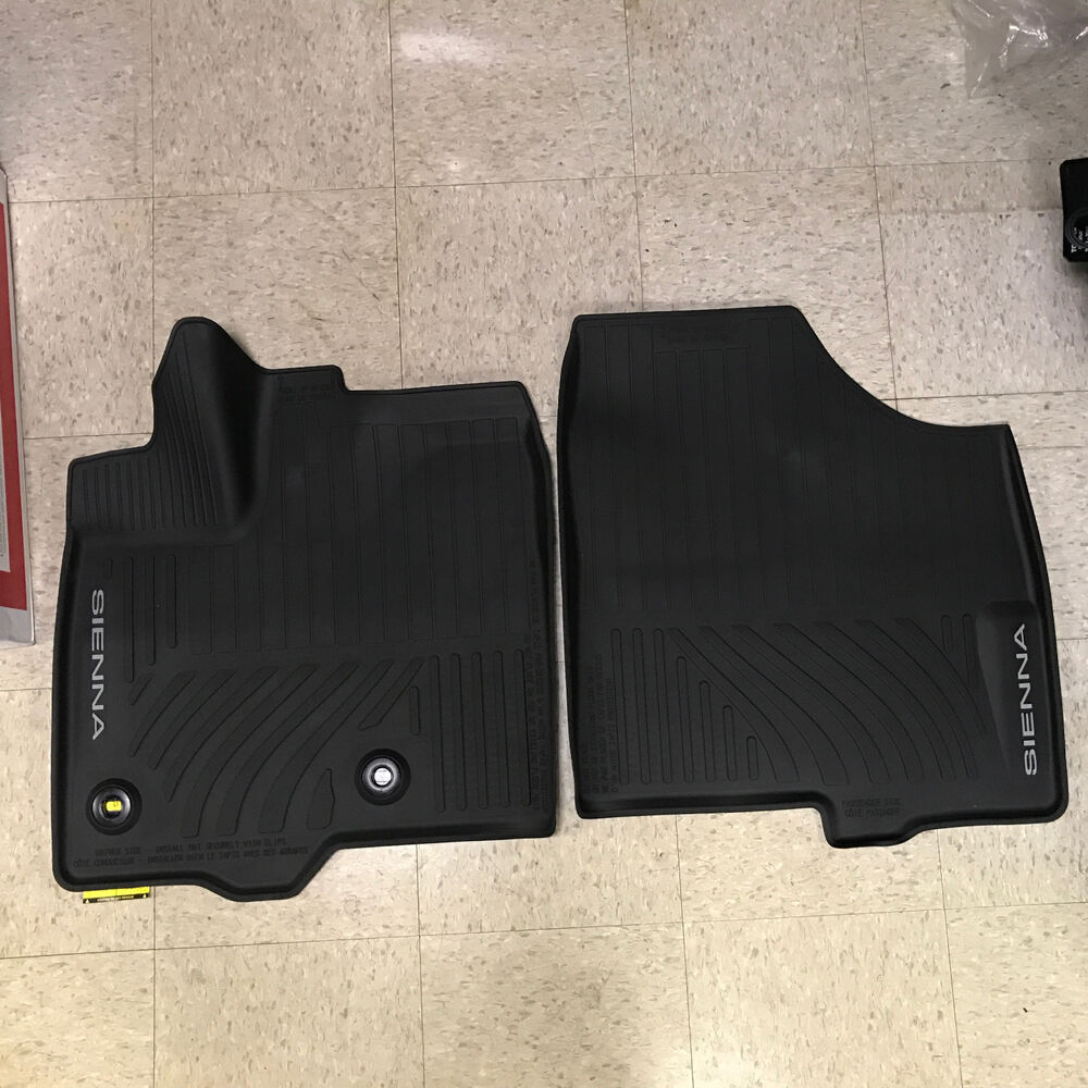 2013 2017 Toyota Sienna 8pc Oem All Weather Floor Liners