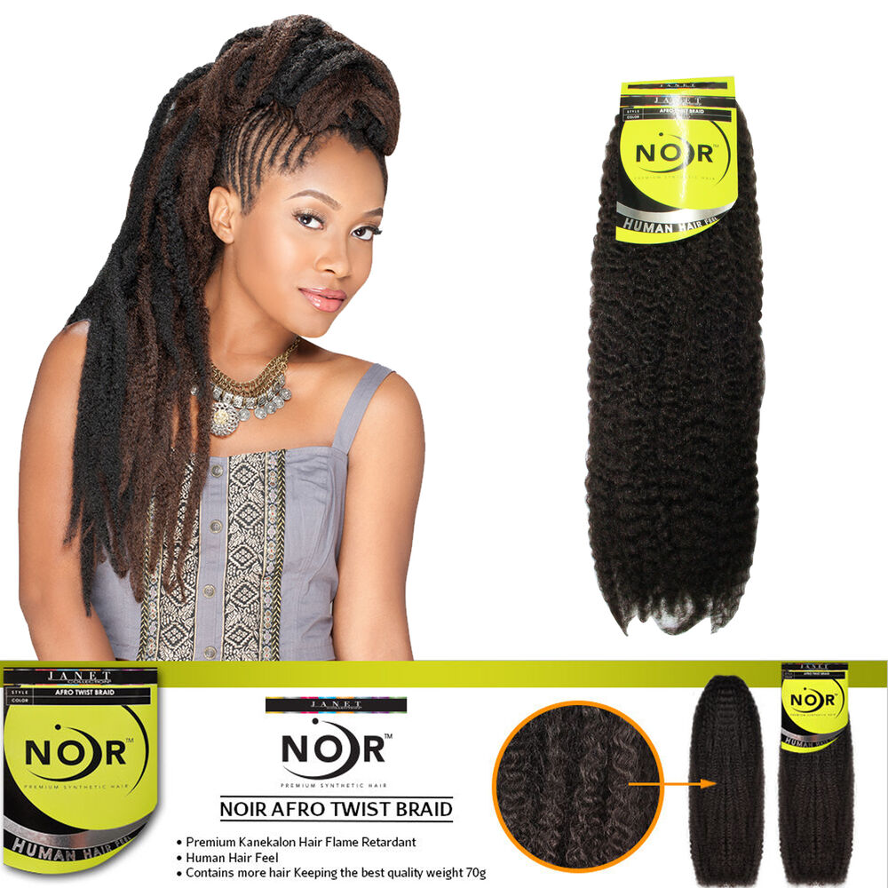 Janet Noir Afro Twist Braid Marley Braiding Hair Extensions