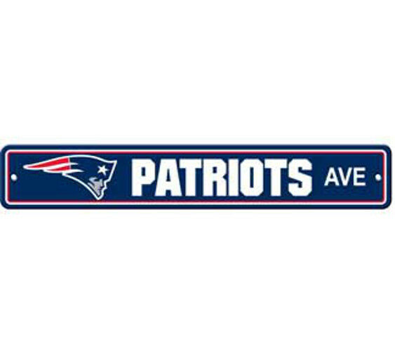 Nfl Man Cave Street Signs : New england patriots ave street sign quot x nfl football