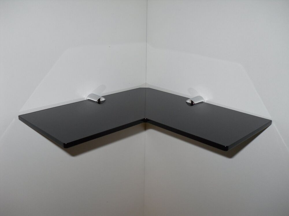 Corner Shelf Black Acrylic Corner Safety Shelf Bathroom Bedroom Shower Shelf 8 Ebay