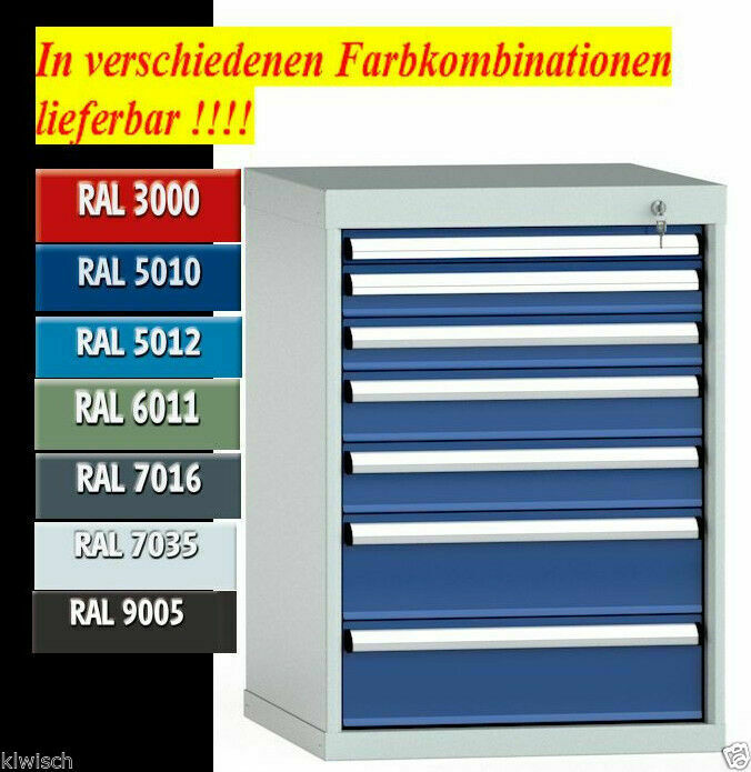 schubladenschrank werkzeugschrank industrie werkstattschrank werkbank metall ebay. Black Bedroom Furniture Sets. Home Design Ideas