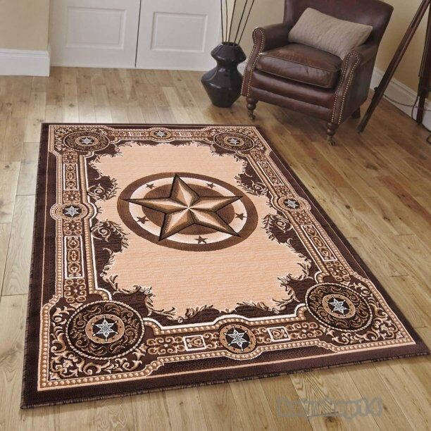 Texas star decor rug western style woven area rug 5 39 2 x 7 for Decor international handwoven rugs