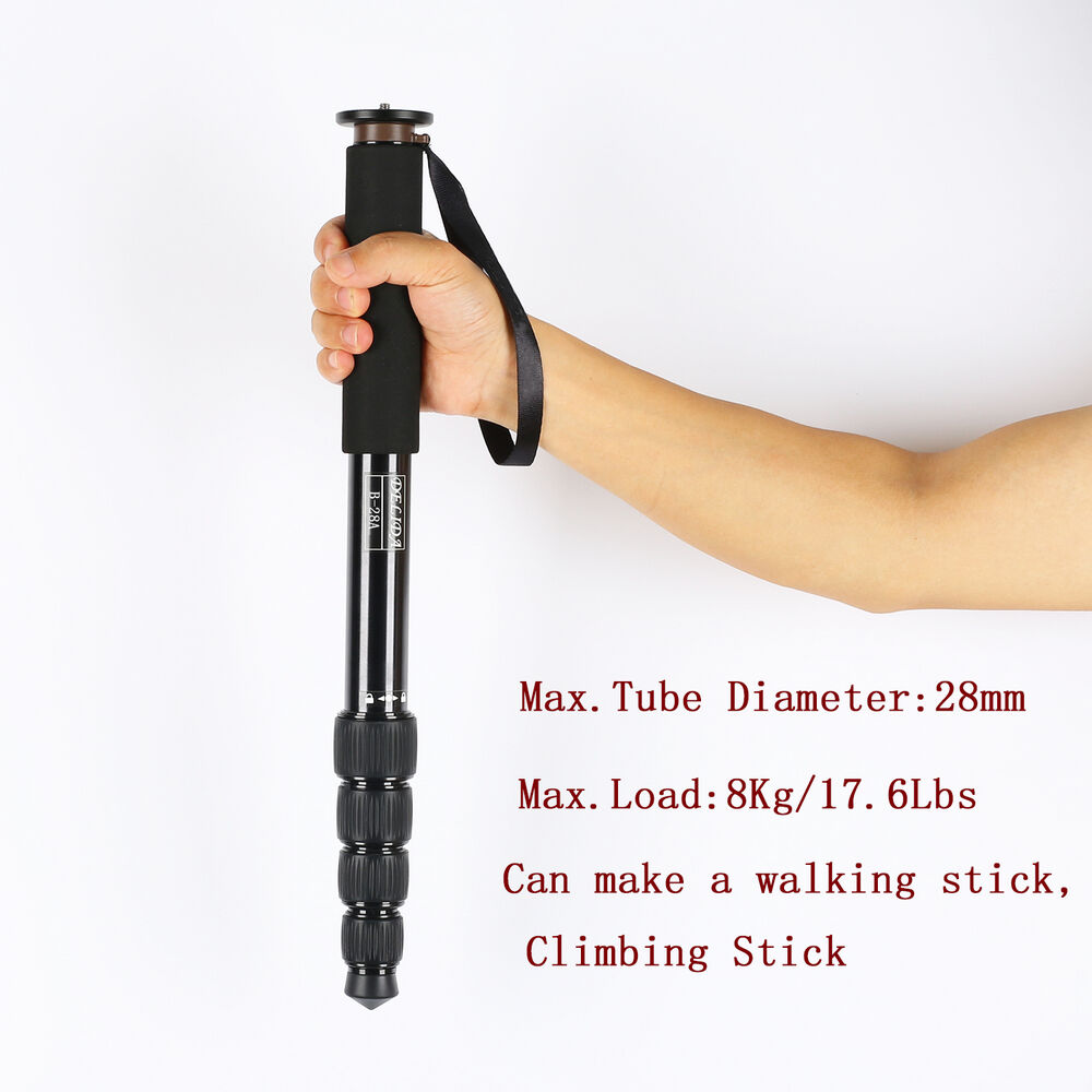 aluminium alloy lightweight selfie stick monopod walking hiking dslr camera b28a ebay. Black Bedroom Furniture Sets. Home Design Ideas