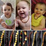 Baltic Teething Necklace for Baby - Simple Package - 3 Sizes - 10 Colors