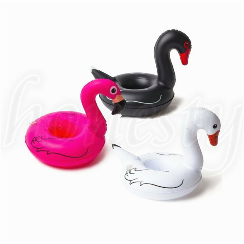 Mallard Eggs In Backyard Island Party Cats: Duck Swan Inflatable Drink Can Beer Holder Swimming Pool
