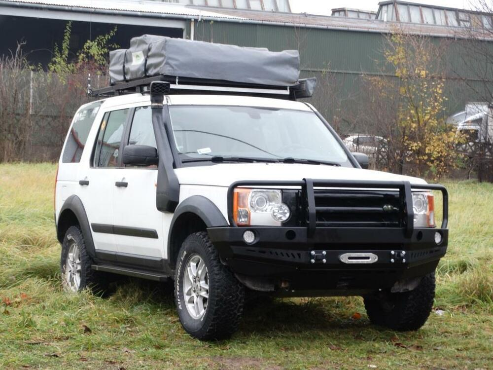 land rover discovery iii 3 front steel bumper winch off road 4x4 ebay. Black Bedroom Furniture Sets. Home Design Ideas