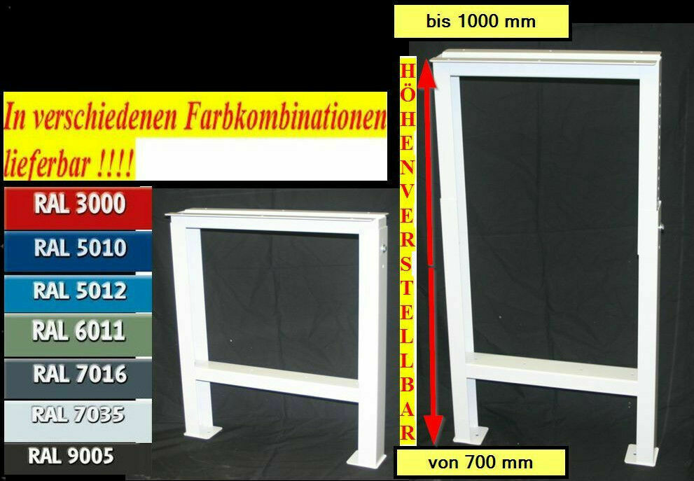 profi h henverstellbar werkbankfu werkbankf e stahlfu gestell werkbank metall ebay. Black Bedroom Furniture Sets. Home Design Ideas
