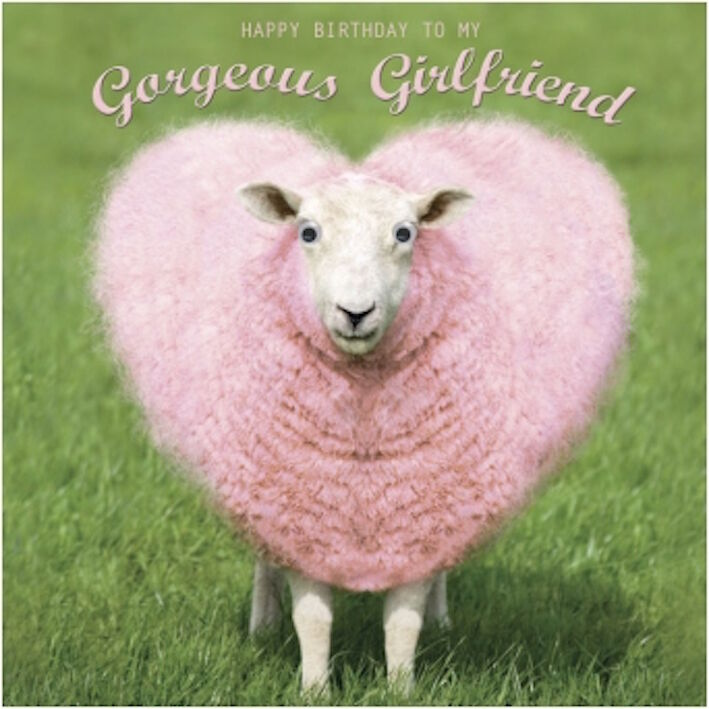 Gogglies 3d Eyes Girlfriend Heart Shaped Pink Wool Sheep Birthday