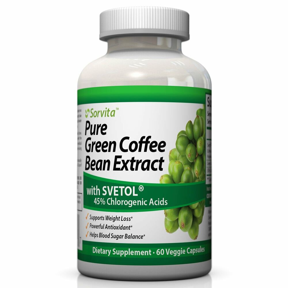 Sorvita Pure Green Coffee Bean Extract with Svetol® Weight ...