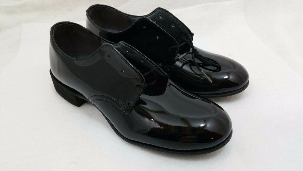 Capps Military Uniform Dress Shoes Oxfords Shiny Black Womens 55