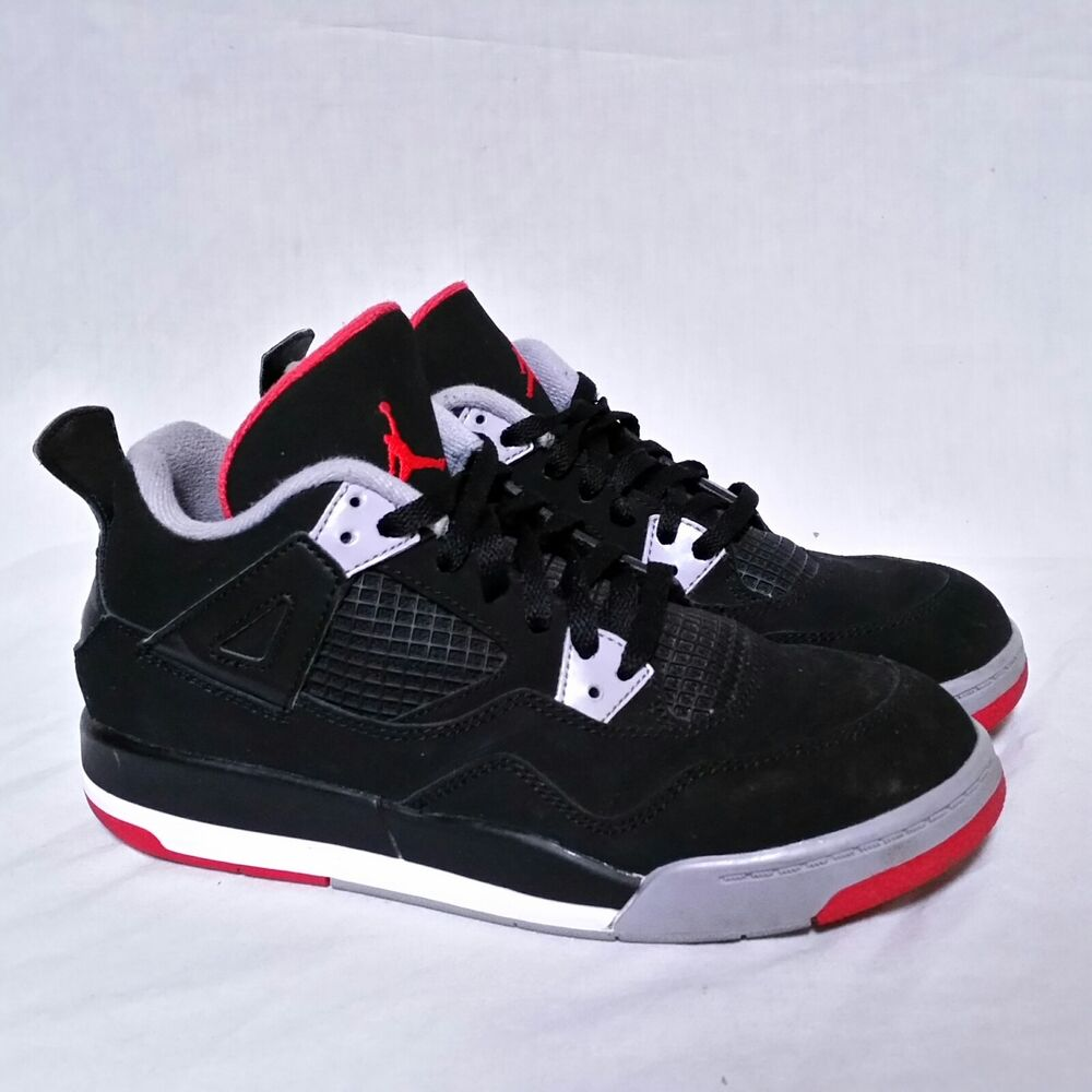 5b272ccf51a Details about Nike Air Jordan Bred 4 iv Cement Toro Bravo Cavs OG Alternate  Fire Red Youth 3Y