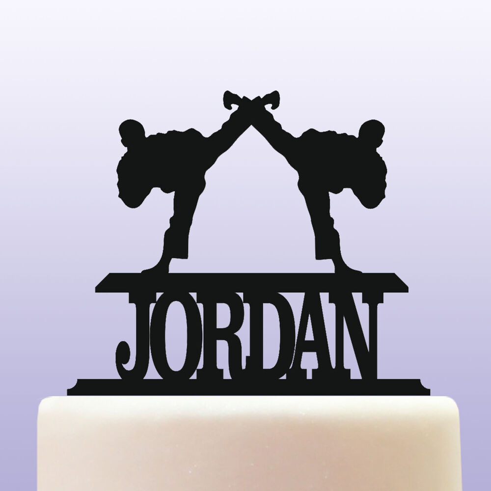 Details About Personalised Acrylic Tae Kwon Do Martial Arts Birthday Cake Topper Decoration