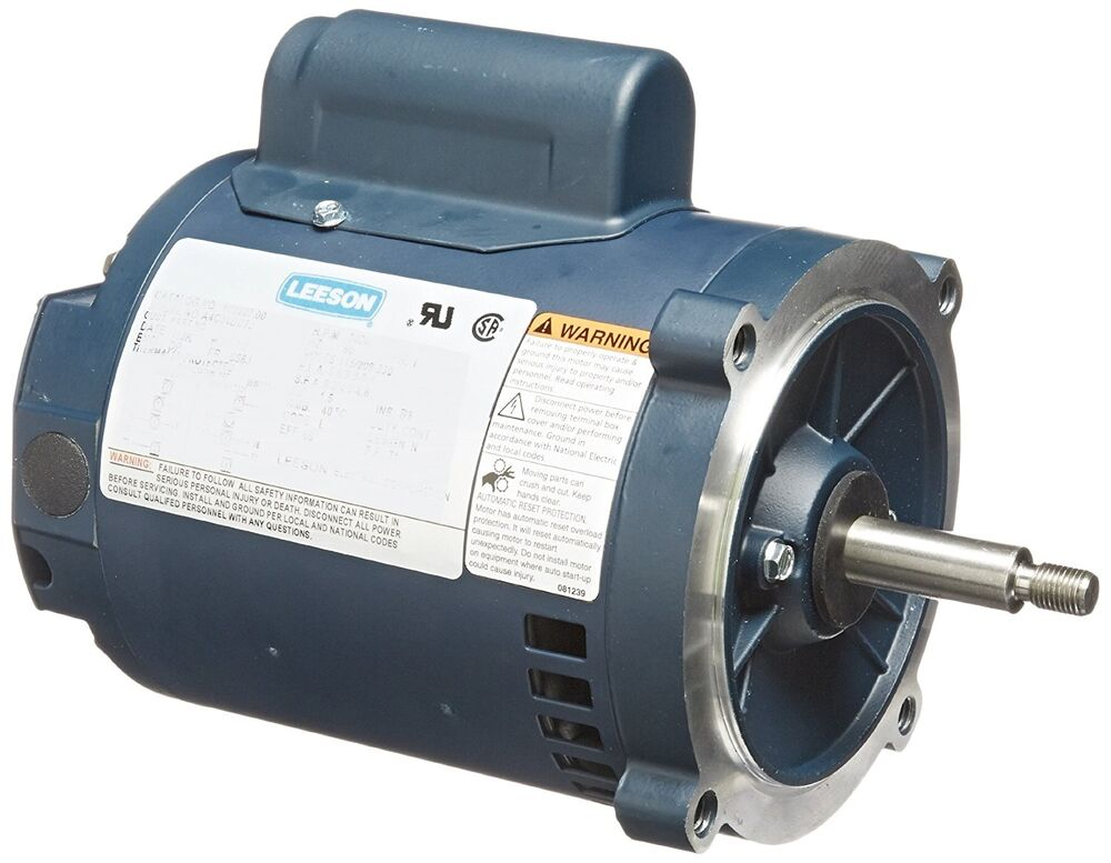 Leeson electric motor 2 hp 3450 rpm 1ph 115 208 for 2 rpm electric motor