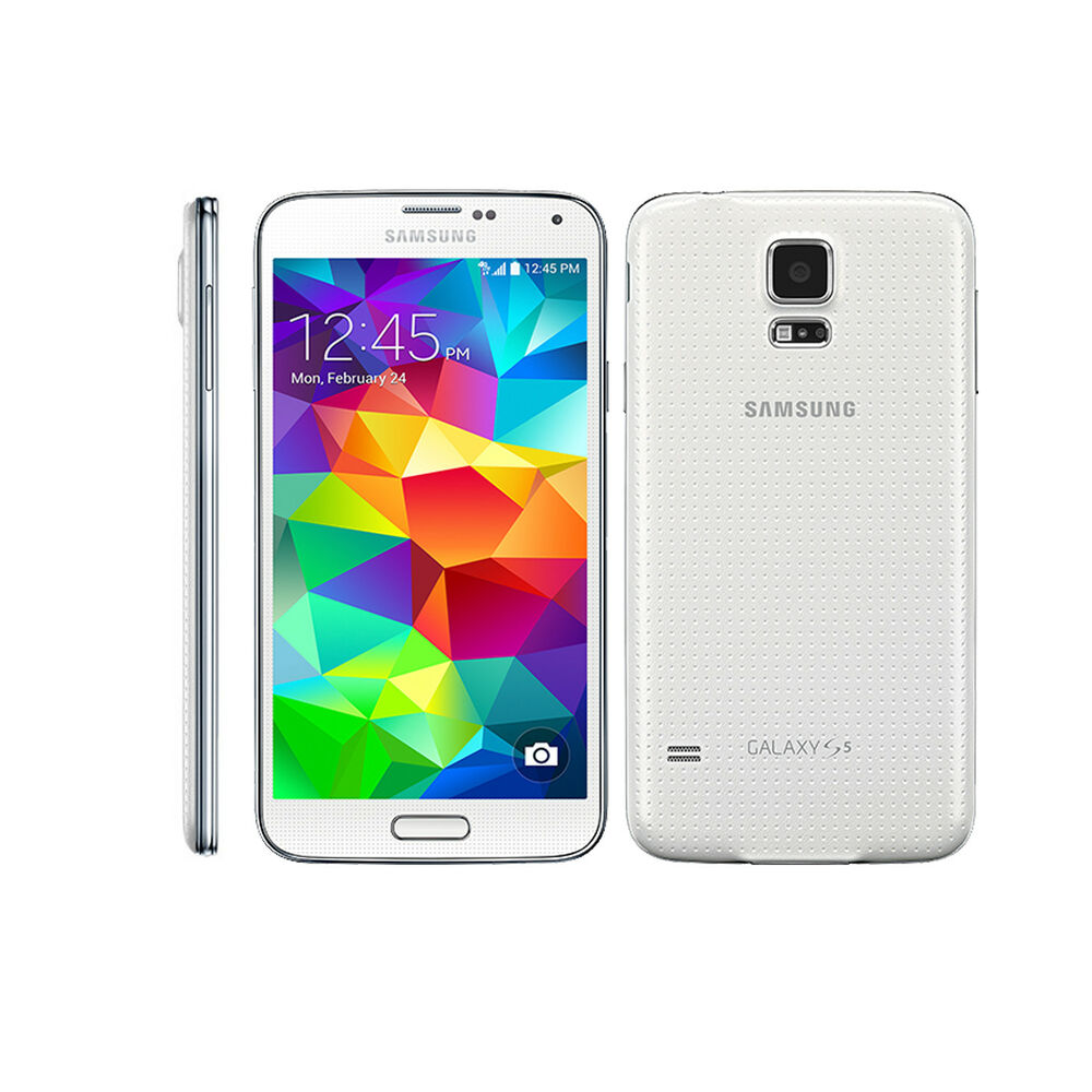 (White)Samsung Galaxy S5 SM-G900T 16GB 16MP 4G LTE Android ...