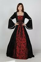 Renaissance Pirate Wench Black Bodice Dress Ball Gown Prom SC41017