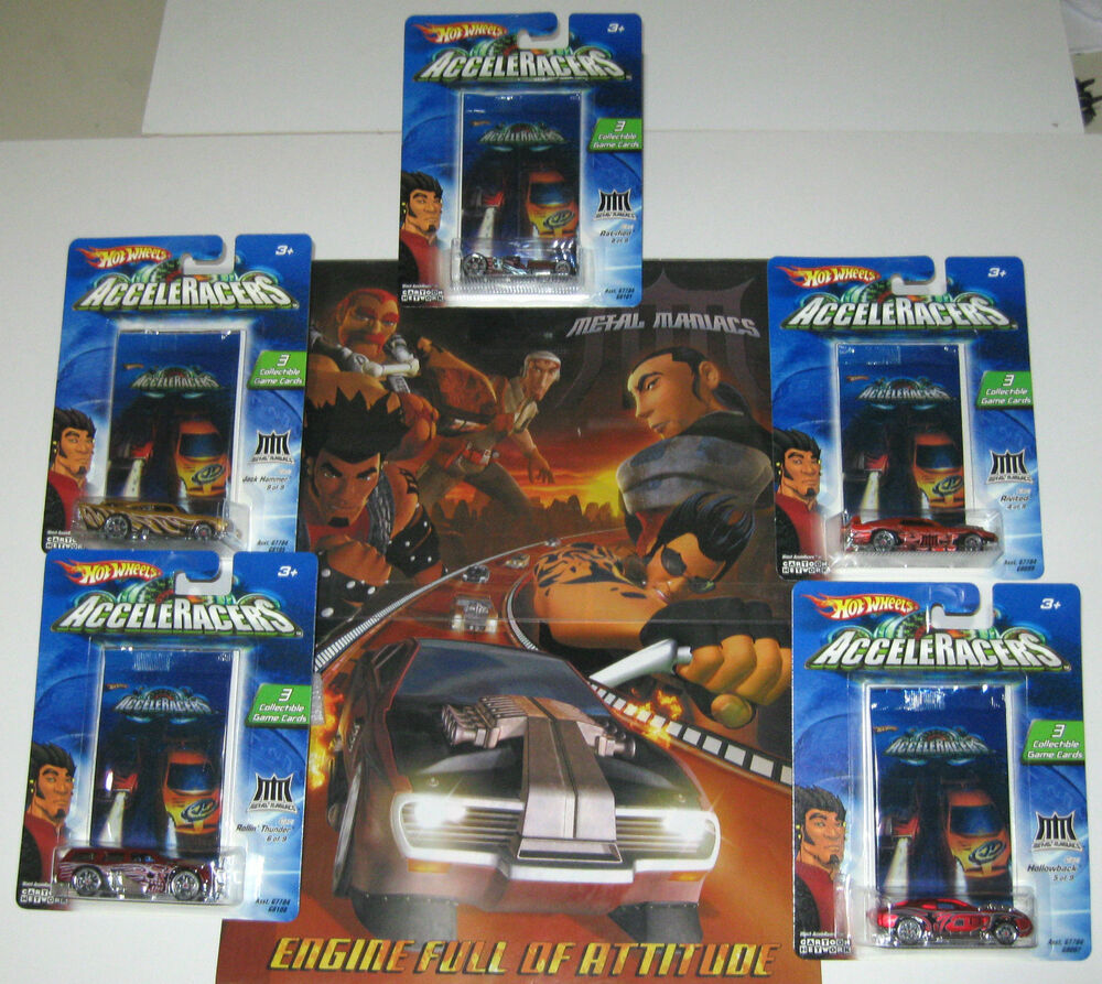 Hot Wheels ACCELERACERS Metal Maniac 5-Pack+Jaw Jammer