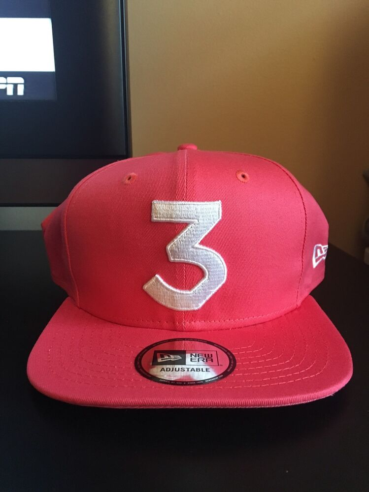 907a288bd953a IN HAND!!! Chance The Rapper    3 New Era Cap Snapback Hat (Salmon) 💯  Authentic