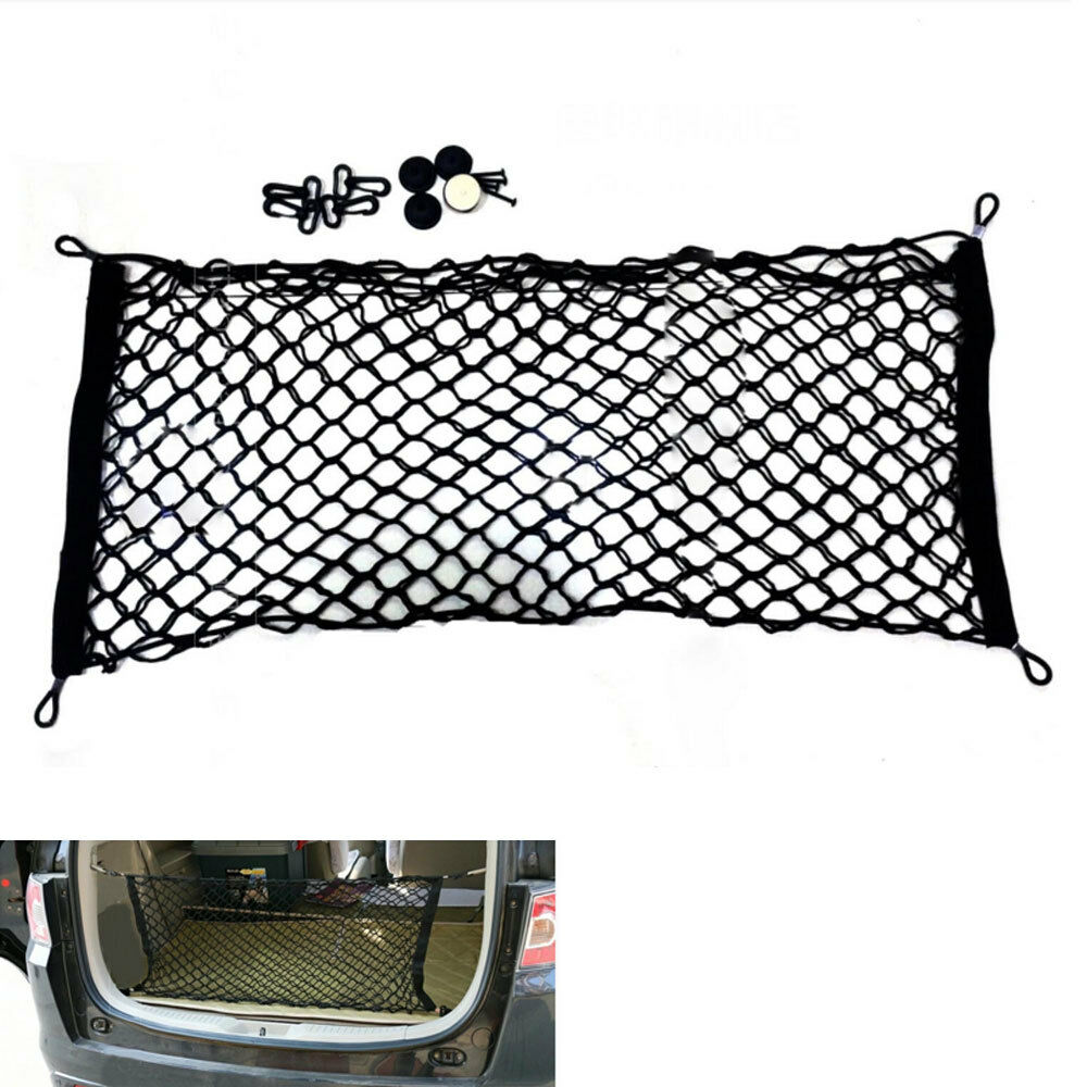 universal rear trunk envelope style cargo luggage net 90 40cm storage organizer ebay. Black Bedroom Furniture Sets. Home Design Ideas