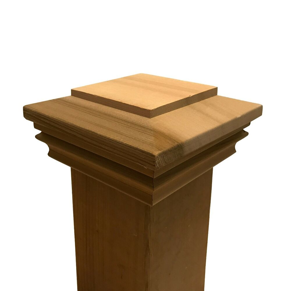 Cedar Plateau Wood Post Cap For 3 5 Quot X 3 5 Quot Fence And Deck