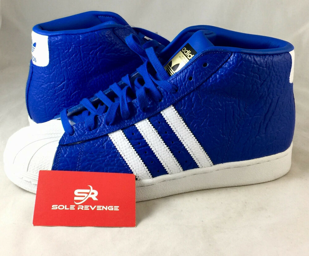 eee9b90efeb91d Details about 8 New adidas Originals PRO MODEL Animal Reptile Print Shoes  Blue White S75067