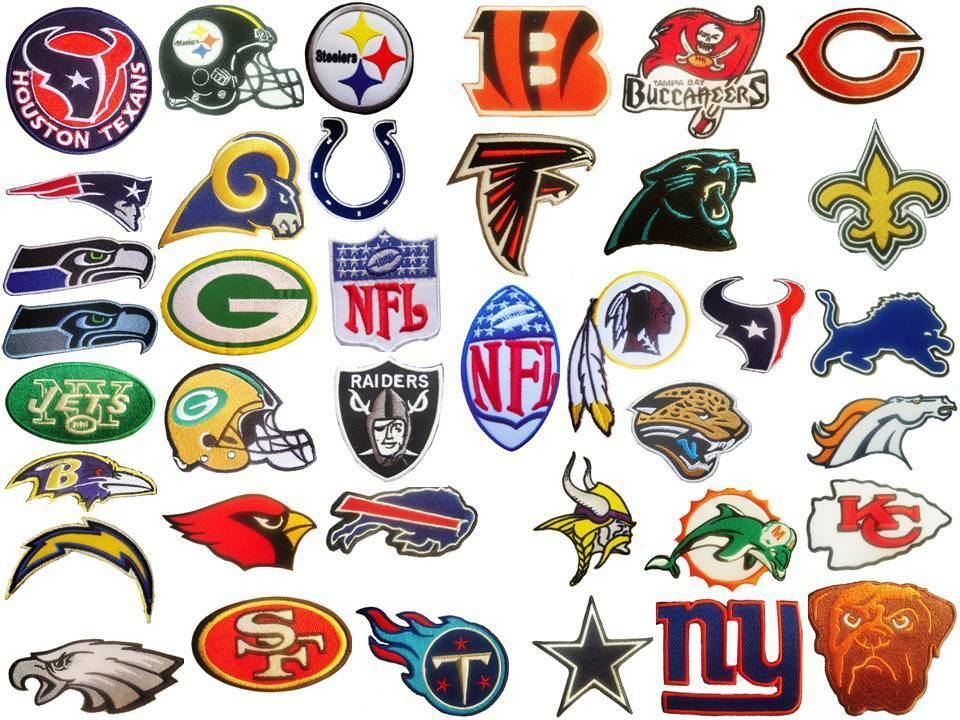 new nfl national football league team logo patches