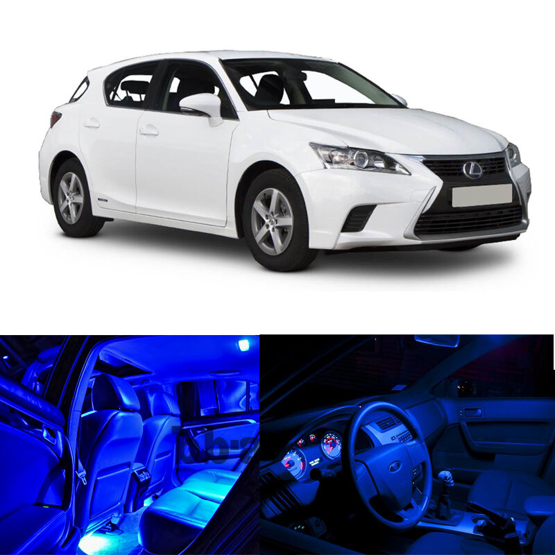 Details About For 11 Up Lexus Ct200h Interior Blue Light Led Bulb Package Xenon Smd Kit 8pcs