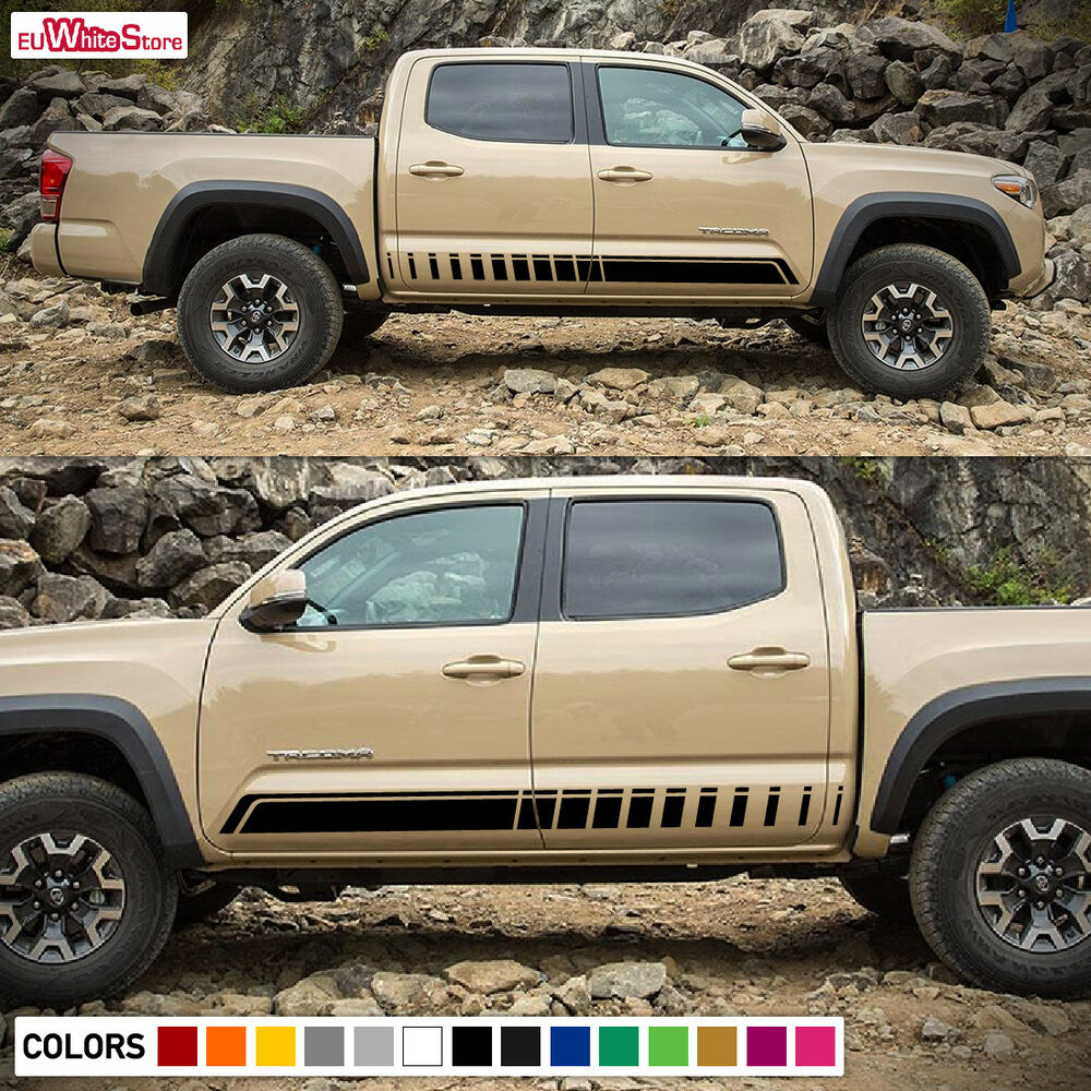 Details about decal sticker vinyl side stripes for toyota tacoma 2005 2017 sport kit door 4x4