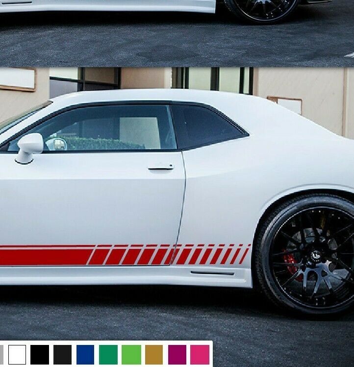 Decal Vinyl Graphic Side Stripes For Dodge Challenger Rt