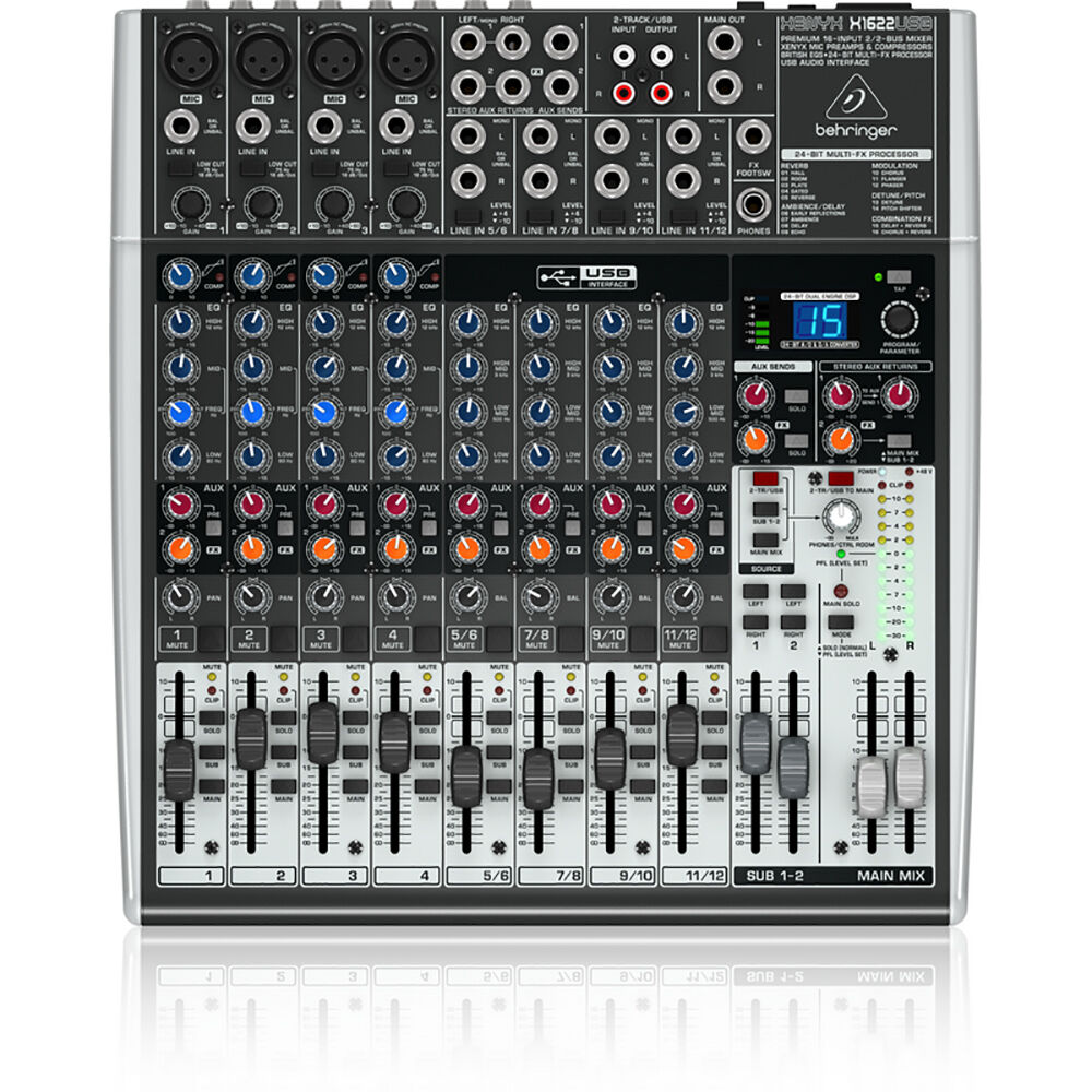behringer xenyx x1622usb 16 input usb audio mixer interface effects mic preamps 700315927787 ebay. Black Bedroom Furniture Sets. Home Design Ideas