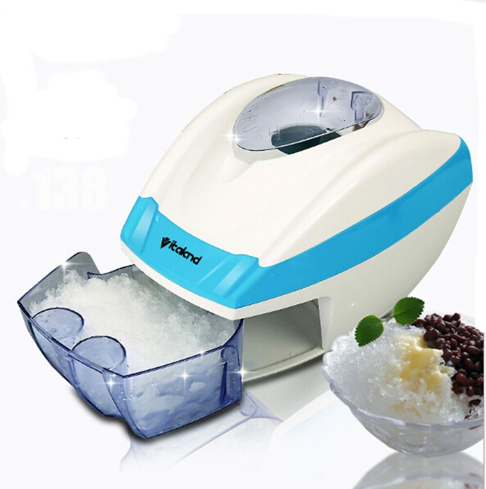 Electric Ice Shaver Machine Snow Cone Maker Automatic ...