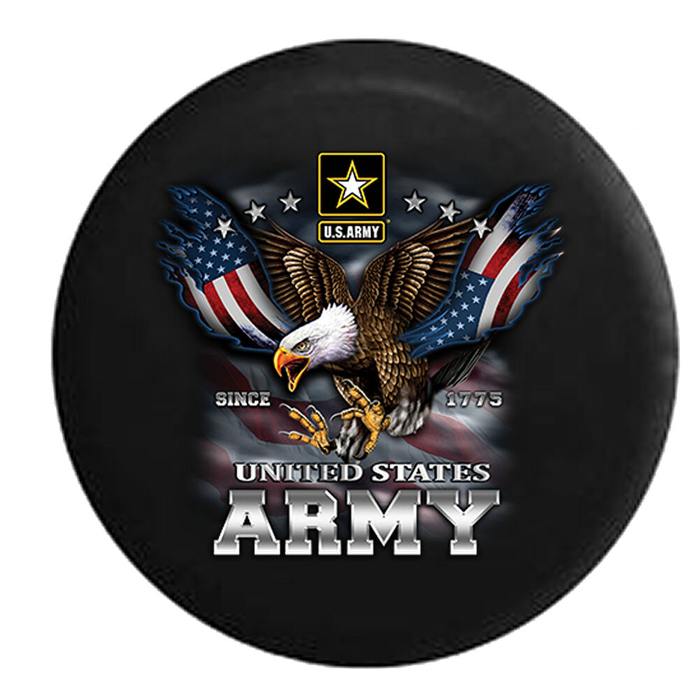 United States Army Usa Screaming Eagle Military Jeep Rv